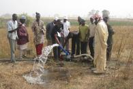 Testing a field water pump