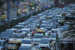 Traffic congestion in New Delhi
