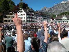 Open-air voting in Switzerland