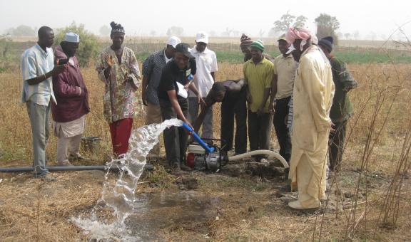 Testing a field water pump